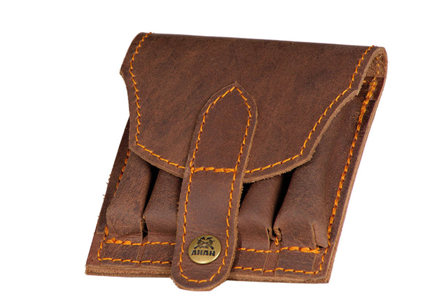 AKAH Cartridge pouch Pull-up leather