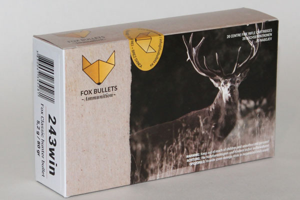 Fox 243Win 5,2g / 80gr Classic Hunter Bullet