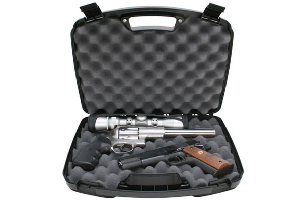 Two pistol Handgun Case MTM up to 8,5""