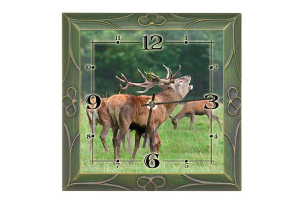 Wall clock Deer