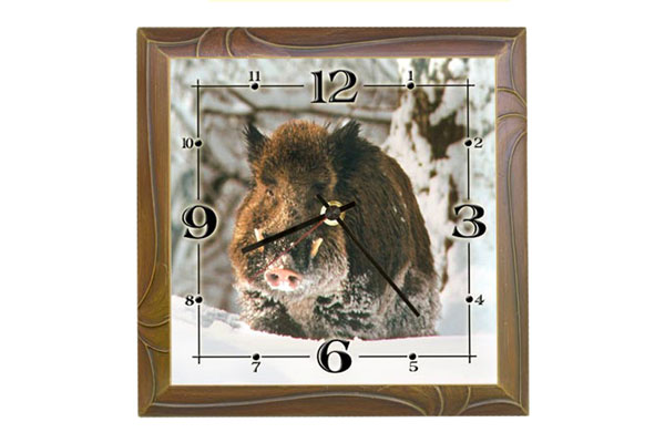 Wall clock Wild Boar