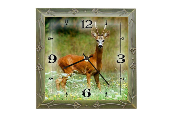 Wall clock Roe Deer I.