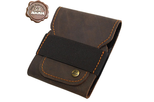 Cartridge case buffalo leather with pull-up effect