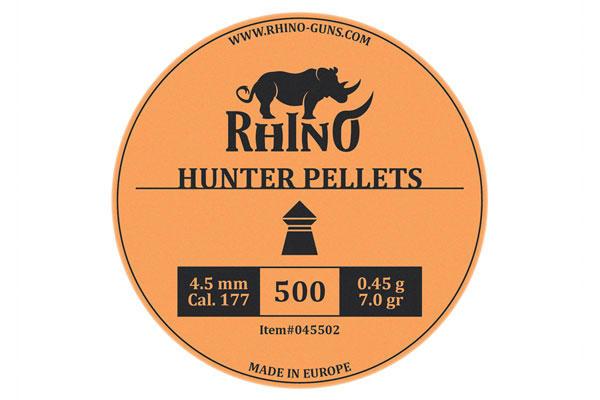 cal. 4,5mm (.177) Rhino Hunter pellets (500)