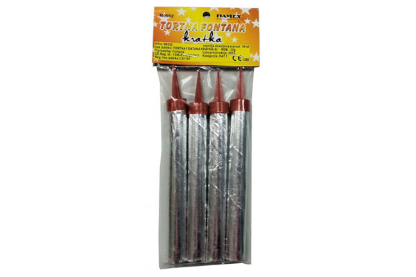 Cake Fountain Fireworks short (4 pcs ) N0552