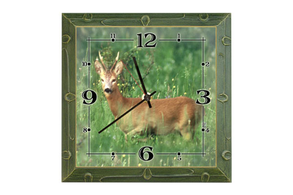Wall clock Roe Deer II.