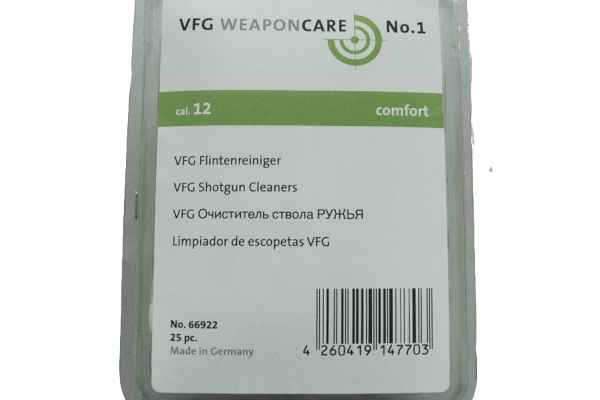 VFG shotgun felt cleaners cal. 12 ( 25 pcs )