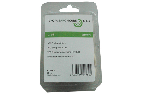 VFG shotgun felt cleaners cal. 16 ( 25 pcs )